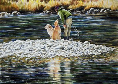 Fishing Buddies  —  SOLD