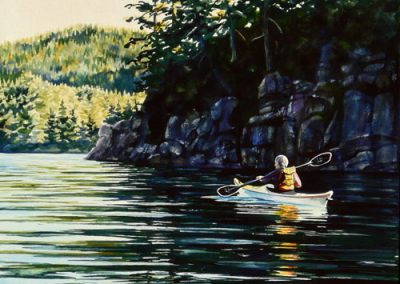 Kayaking To Dinner –SOLD