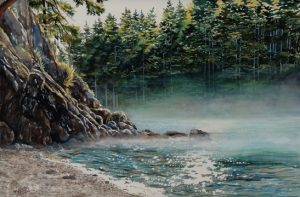 A New Day Peggy Woods watercolor