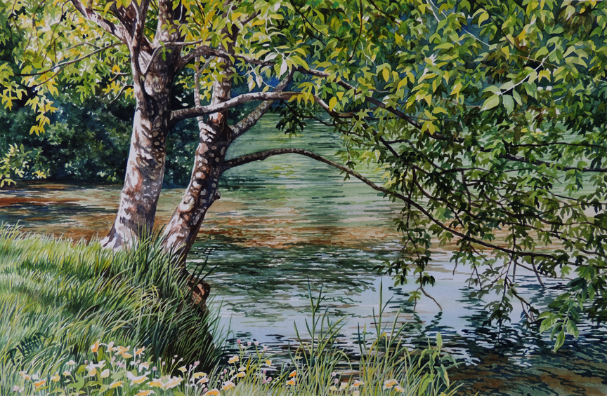 trees water Peggy Woods art peaceful